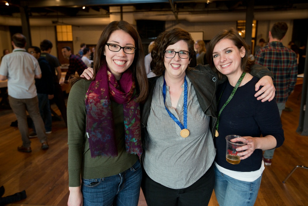 A photo of the three writer-strategists, Elyse, Ally, and Natalie.