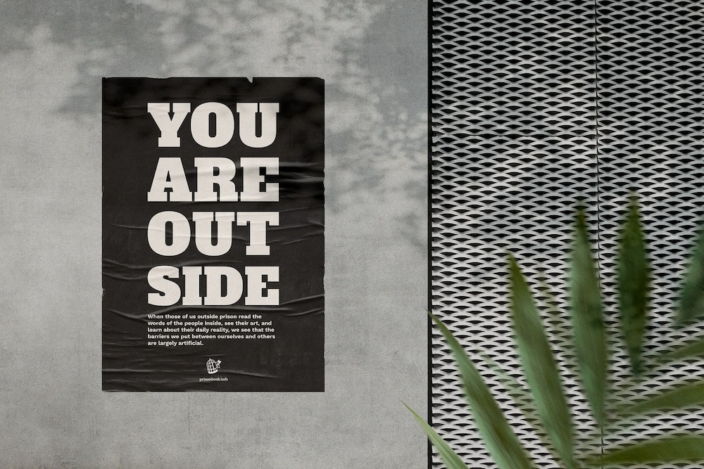 """A shot of a print ad with the headline: """"you are outside."""""""