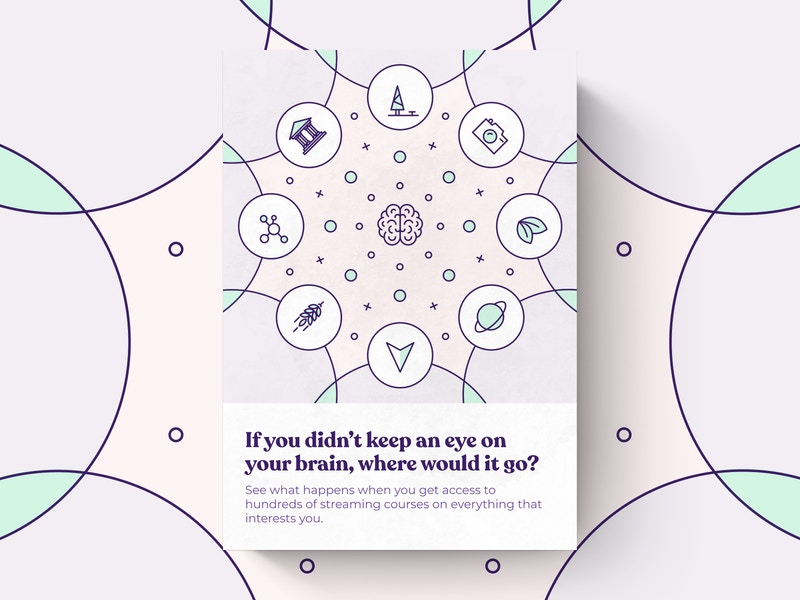 """A shot of a print ad with the headline: """"if you didn't keep an eye on your brain, where would it go?"""""""